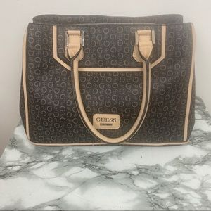 Guess purse with handles.